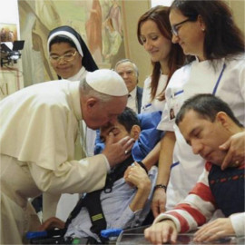 Pope Francis Meeting Sick Pilgrims