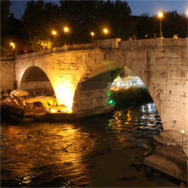 Ponte Sisto at Night